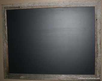 "Large Rustic Barnwood Framed Chalkboard Chalk Black Board Display Menu 20""x28"""