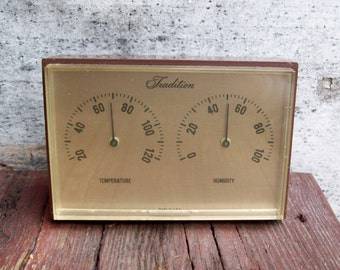 Vintage Tradition Desktop Weather Station ~ Temperature - Humidity - Sears, Roebuck and Co.