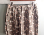 Brown Floral Shorts Size XL