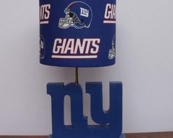 New York Giants Desk or Table Lamp Base - Sports Lamp Base - Sports, bedroom or den decor