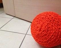 Crochet polyester doorstop, door stopper, outdoor doorstop