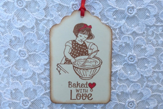 Items similar to homemade baked goods gift tags baked for Homemade baking gifts for christmas