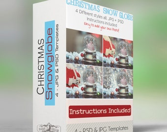 Christmas Snow Globes - Set of 4 .JPG