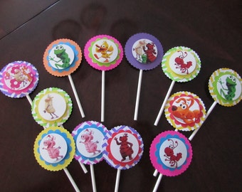 Word World Cupcake Toppers Set of 12