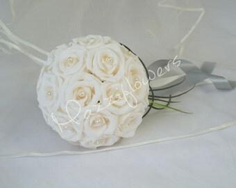 Bridal bouquet, wedding bouquet, wedding flower bouquets, paper bouquet, bridal flower wedding, paper bridal bouquet cream.