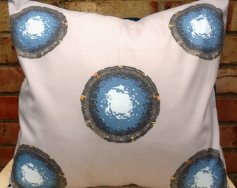 Stargate SG1 Atlantis Universe Designer Fabric Cushion - handmade by Alien Couture