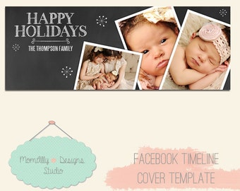 INSTANT DOWNLOAD - Christmas Facebook Timeline Cover Template for Personal or Business Page -  Photoshop 3