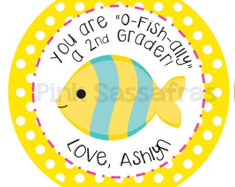 You're O-Fish-Ally a... School Gift Tags
