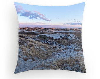 Cape Cod Dunes Sandy Neck Throw Pillow Beach Dunes Decor Beach Sunset Cape Cod Sunset