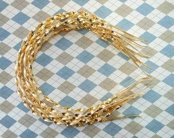 10pcs 4mm Gold Metal twist Headbands, curly headbands,fried dough twist headbands with end. headbands DIY