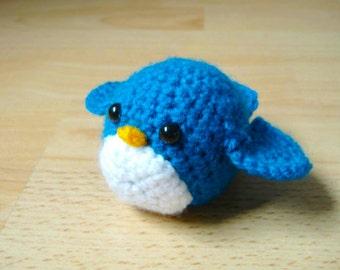 Crocheted Blue Bird Digital Pattern