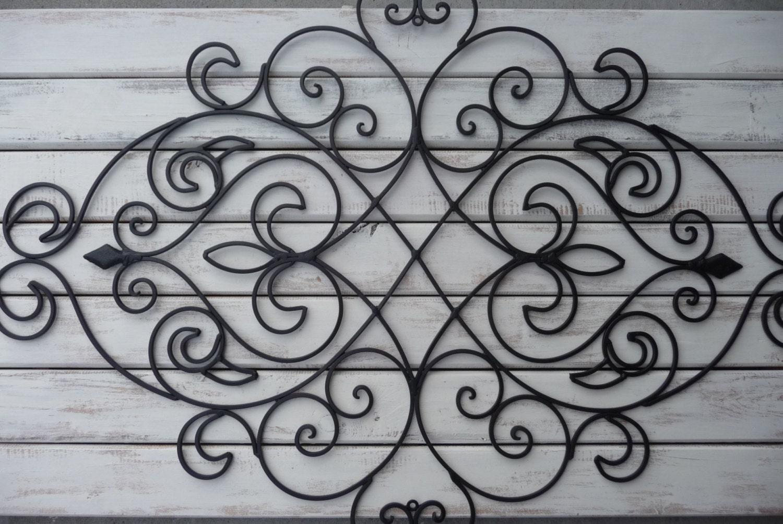 Wrought Iron Wall Decor Bedroom Headboard Black Fleur De