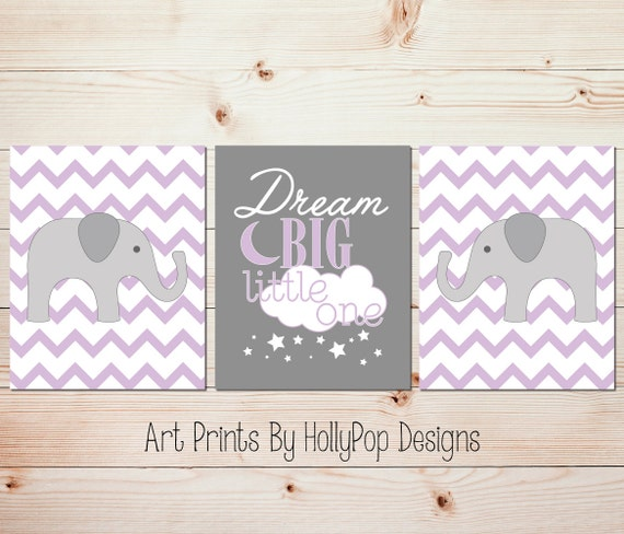 Baby Girl Nursery Decor Girls Room Wall Art Dream Big Little