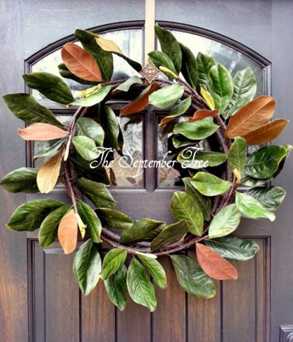 Etonnant Cool Magnolia Wreaths For Front Door Contemporary   Image Design .