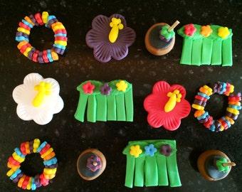 Hawaiian Cupcake Toppers