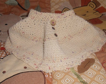 Cotton thread Baby crochet skirt  0-3 months