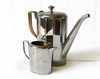 Antique  German Bauhaus WMF  - Art-Deco silver plated Coffee Set
