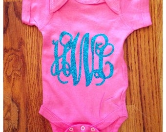 Large Monogram Onesie