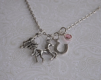 Horse Necklace- Personalized Horse Necklace