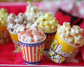 2 pcs / Decoden / Miniature / Yummy Cute Popcorn / Charm / 5CM / OT013