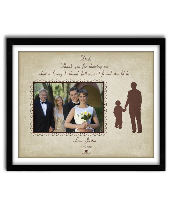 Wedding Gifts From Father Of The Groom : Personalized Wedding Gift Father of the Groom Gift Thank you