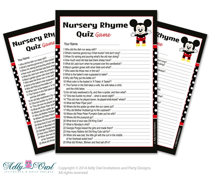 boy mickey mouse nursery rhyme game find rhyme game quiz for
