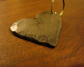 Stainless steel forged heart keychain...Love in Metal