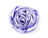 "Lavender - Set of 3 Large 3"" Rolled Satin Flowers - RSF-018"