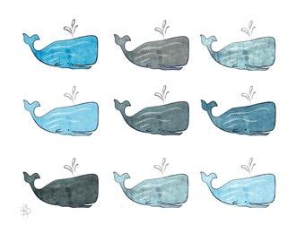 Concrete Whales art print