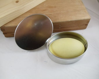 Naturally Scented Lotion Bar w/Oval Tin- 100% All Natural with Jojoba Oil Cocoa Butter and Shea Butter - No Artificial Ingredients
