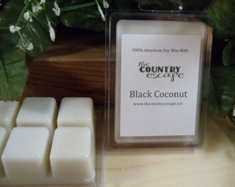 Black Coconut Scented 100% Soy Wax Melt -Rich Coconut -Triple Scented