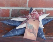 Primitive Stars, Primitive Star, Red White and Blue, Primitive Star Pincushion, Primitive Pincushion, Flag Tag, FAAP, OFG, HAFAIR