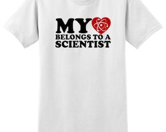 My Heart Belongs To A Scientist  T-Shirt 2000-OC-90