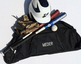 Black XL Baseball Bat Bag w/ Monogram
