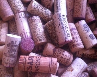 150 used Wine corks  / recycled corks /  natural corks .