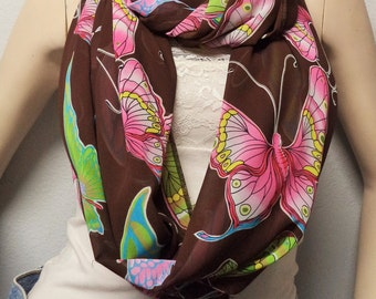BIG Butterflies Gorgeous  Infinity  Scarf Gift Idea Fall Fashion