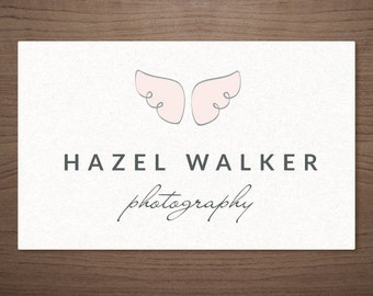 Premade Logo Design for Photographers - Angel Wings - Photography Boutique Wedding Small Business