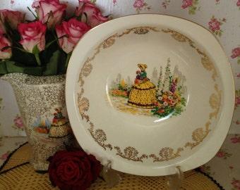 Vintage crinoline lady fruit bowl  by Stylecraft midwinter.