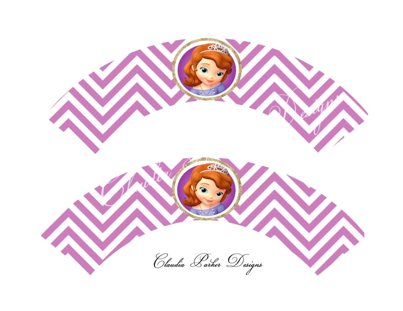 Sofia the first cupcake wrappers diy printable princess sofia zoom amipublicfo Images
