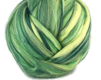 Superfine merino wool roving 19 microns 4 oz,color blend (Brasil)