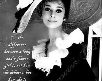 Audrey Hepburn: The Wisdom of Eliza Doolittle Altered Fine Art Photographic Print CIJ