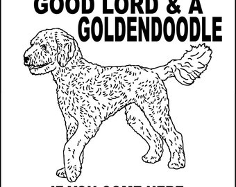 goldendoodle puppy coloring pages - photo#26