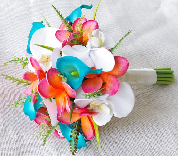 Best Ideas For Purple And Teal Wedding: Wedding Coral Orange And Turquoise Teal Natural Touch By
