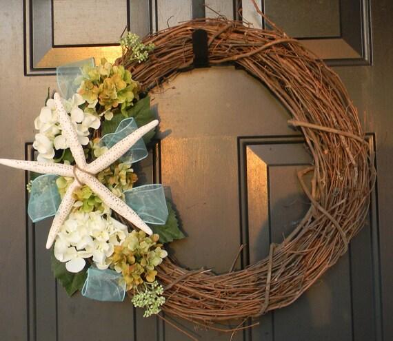 Do It Yourself Home Design: Seashell Wreath Coastal Decor Starfish Coastal Wreath