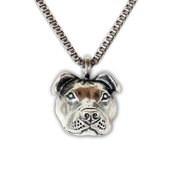 pit bull pendant sterling silver 3d