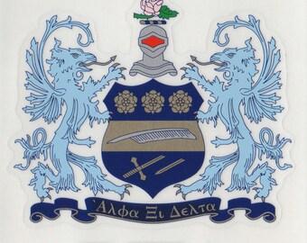 Alpha Xi Delta Sorority Crest Sticker