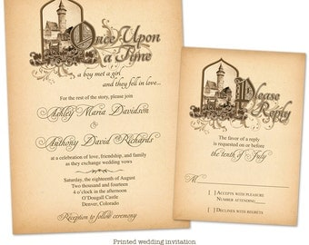 Once upon a time invitation | Etsy