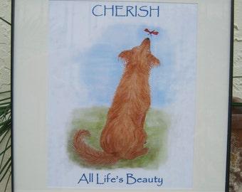 Golden Retriever Print Golden Retriever Art - Cherish All Life's Beauty
