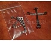Easter Disciple Cross Pre-Bent Diamond Horseshoe Horse Shoe Nails CH5 (1 set of 4 nails)