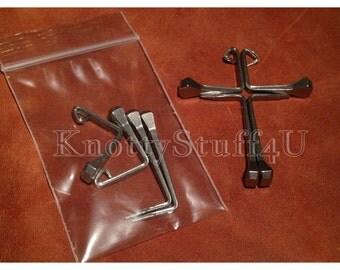 10 pack, Easter Disciple Cross Pre-Bent Diamond Horseshoe Horse Shoe Nails CH5 (10 set of 4 nails)